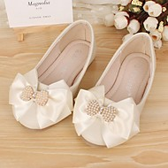 Girls' Shoes Dress Casual Comfort Round Toe Leather Flats