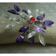 acrylique bague fleur de décoration de serviette, acrylique, 1.77inch, set de 12