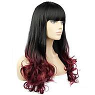 The European and American Fashion Curly Hair Wig Caps Imported High Temperature Wire. Brown To Black Gradient