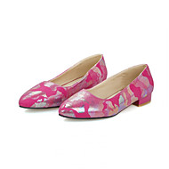 Women's Shoes Flat Heel Ballerina Loafers Office & Career/Casual Black/Blue/Red/Beige