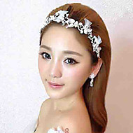 Women's Rhinestone/Tulle/Alloy Headpiece - Wedding Headbands/Flowers 1 Piece