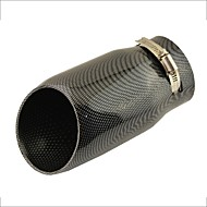 "3"" Inlet Slant Cut Carbon Fiber Print Car Exhaust Pipe Muffler Tip for Audi A6L"