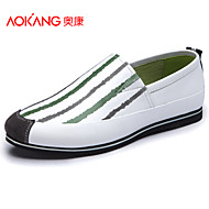Aokang Men's Shoes Outdoor/Office & Career/Casual Leather Loafers Blue/Yellow/White