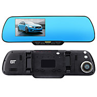 """GT View 4.3"""" Car DVR FHD 1080P 150° Front Camera with 720P 120° Rear Camera Parking LDWS & FCWS Rear View Mirror"""