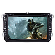 "Car DVD Player  Android4.4 2 Din 8"" 800 x 480Built-in Bluetooth/GPS/RDS/3D UI/CANBUS/WiFi/Subwoofer for Volkswagen"