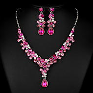 Rose Zircon Jewelry Set for Wedding Party