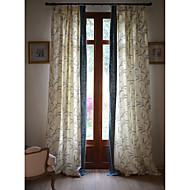Dois Painéis Tratamento janela Rústico / Neoclassicismo / Mediterrêneo / Designer , Floral / Botânico Quarto Linho/Mistura de Algodão
