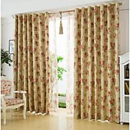 Dois Painéis Tratamento janela Rústico Sala de Estar Linho Material Blackout Cortinas cortinas Decoração para casa For Janela