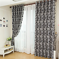 Two Pannels Cationic Jacquard Window Shading Shade Curtains Drapes