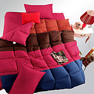 yuxin®spring núcleo colcha cor quatro feitiço grosso pena inverno veludo quilt super macio para o rei / rainha / tamanho grande