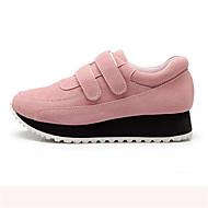 Women's Shoes Suede Wedge Heel Round Toe Fashion Sneakers Casual Black/Green/Pink