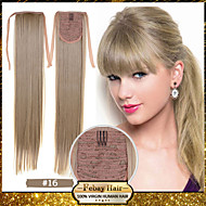 Excellent Quality Synthetic 22 Inch Long Straight Golden Blonde (#16) Ribbon Ponytail Hairpiece