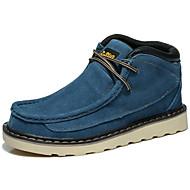 Semiš-Kovbojské Jezdecké boty Módní boty-Pánské-Modrá Žlutá-Outdoor Kancelář Běžné Atletika Work & Safety-Plochá podrážka