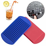 160 Ice Cubes Frozen Cube Bar Pudding Silicone Tray Mould Mold Tool (Random Color)