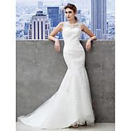 트럼펫/멀메이드 물결모양 가장자리 바닥 길이 웨딩 드레스 ( 튤 )
