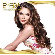 Frauen brasilianische reine Haarfarbe (# 1 # 1b # 2 # 4) Körperwelle Haarspitze-Frontseitenperücken