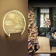 Acrylic Wall Lamp PVC Lamp Light  LED / Bulb Included Modern/Contemporary Metal 220V  5㎡-10㎡  L19*H20.5*W5CM