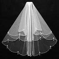 Wedding Veil Two-tier Elbow Veils Beaded Edge