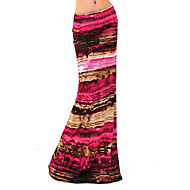 Women's Print / Striped Multi-color Skirts , Vintage / Casual / Print / Maxi Maxi    LS