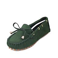 נשים-נעלי סירה-דמוי עור-נוחות / בלרינה / סירה / גלדיאטור / נעליים ותיקים תואמים / שטוחות-שחור / כחול / חום / צהוב / ירוק / אדום / בורגונדי