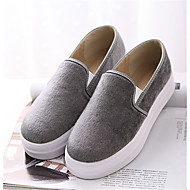 Women's Shoes Suede Platform Round Toe Loafers Casual Black / Gray / Burgundy
