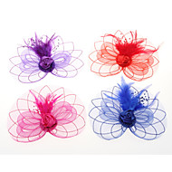 Veren / Tule Vrouwen Helm Bruiloft / Speciale gelegenheden / Casual / Outdoor Fascinators / Bloemen / Hoeden / Hair ClipBruiloft /