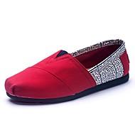 Mokasíny - Plátno - Pohodlné - Dámská obuv - Vícebarevná - Outdoor / Běžné - Plochá podrážka