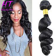 """1st / lot 8 """"-26"""" peruanska jungfru hår naturligt svart färg lös våg rå människohår väver hoade sälja"""