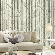 New Rainbown™ Contemporary Trees/Leaves Birch Tree Pattern Non-woven Woods Wall Covering Non-woven Fabric Wall Art