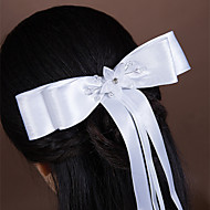 Women's Satin/Rhinestone/Tulle/Imitation Pearl Headpiece - Wedding/Special Occasion Hair Combs 1 Piece