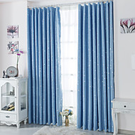 Two Panels European Contracted Fashion High-Grade Star Children Room Window Shade Curtains Drapes