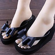 נעלי נשים - כפכפים - PVC - כפכפים - שחור / ורוד - שטח - עקב שטוח