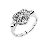 Women's Alloy Ring Cubic Zirconia Alloy
