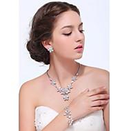 Women's Silver Alloy Cubic Zirconia Jewelry Set