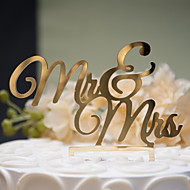 Mirror Surface Cake Topper Mr and Mrs (2 color)