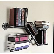 LOFT American Country Style DIY Book Shelves Furniture Iron Wall Shelf Bookcase Shelf Art Exhibition Shelf -Z27