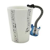 musikk gitar cup fiolin keramisk kopp porselensemalje kaffe te krus kopp