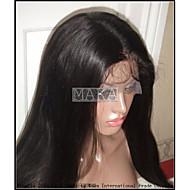 20 인치 브라질 처녀 머리 구이 스트레이트 전체 레이스 가발 글루리스 전체 레이스가 발