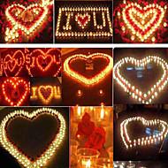 100PCS White Flameless Unscented Votive Candles Tealight Wedding Home Decor