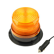 DearRoad DC12V High Power Car Magnetic Warning Flash Beacon Strobe Emergency Light Yellow/Red with Cigarette Lighter