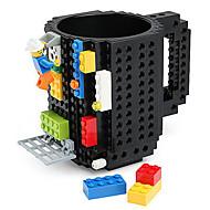 blocos caneca construir em bloco café bebida copo de chá caneca tijolo caneca engraçada criativa copo coofee