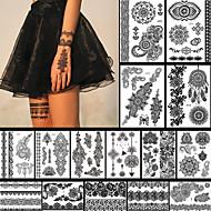 - Dövme Etiketleri - Non Toxic / Temalı / Büyük Boyutlu / Tribal / Lower Back / Waterproof / Dantel - Çiçek Serisi / Totem Serisi -Kadın