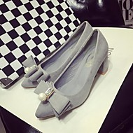 Women's Shoes Chunky Heel Heels/Closed Toe Heels Office & Career/Dress/Casual Black/Pink/Gray
