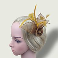 Women's Feather/Net Headpiece - Wedding/Party Simple Fascinators 1 Piece
