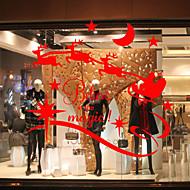Okno samolepky Samolepky na okno stylu vánoční okenní sklo dekorace pvc samolepky