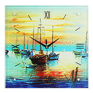 Modern Style Creative Quiet Harbor Mute Wall Clock