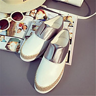 Women's Shoes  Flat Heel Round Toe Loafers Casual White / Silver