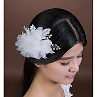 Women's Rhinestone/Crystal/Imitation Pearl/Chiffon/Fabric Headpiece - Wedding/Special Occasion Flowers 1 Piece