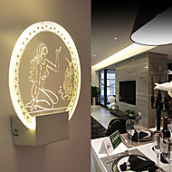 Acrylic Wall Lamp PVC Lamp Light Chip LED / Bulb Included Modern/Contemporary Metal 220V  5㎡-10㎡  L19**H20.5*W5CM  5W