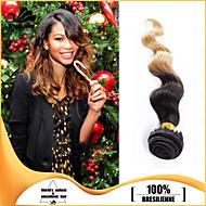 44pcs / lot jungfru människohår väver vågigt hår inslags brasilianska hårknippena ombre brasiliansk människohår väver